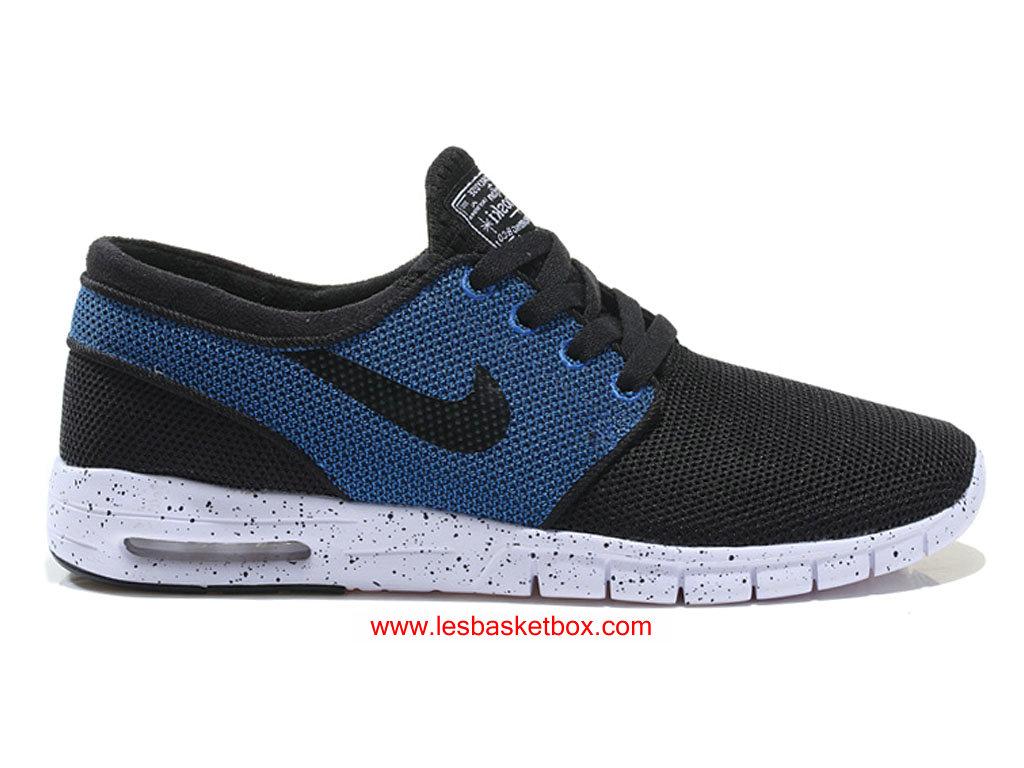 timeless design 8e8a4 5b55c Nike SB Stefan Janoski Max Bleu Noire Blanche Chaussures Pour Homme