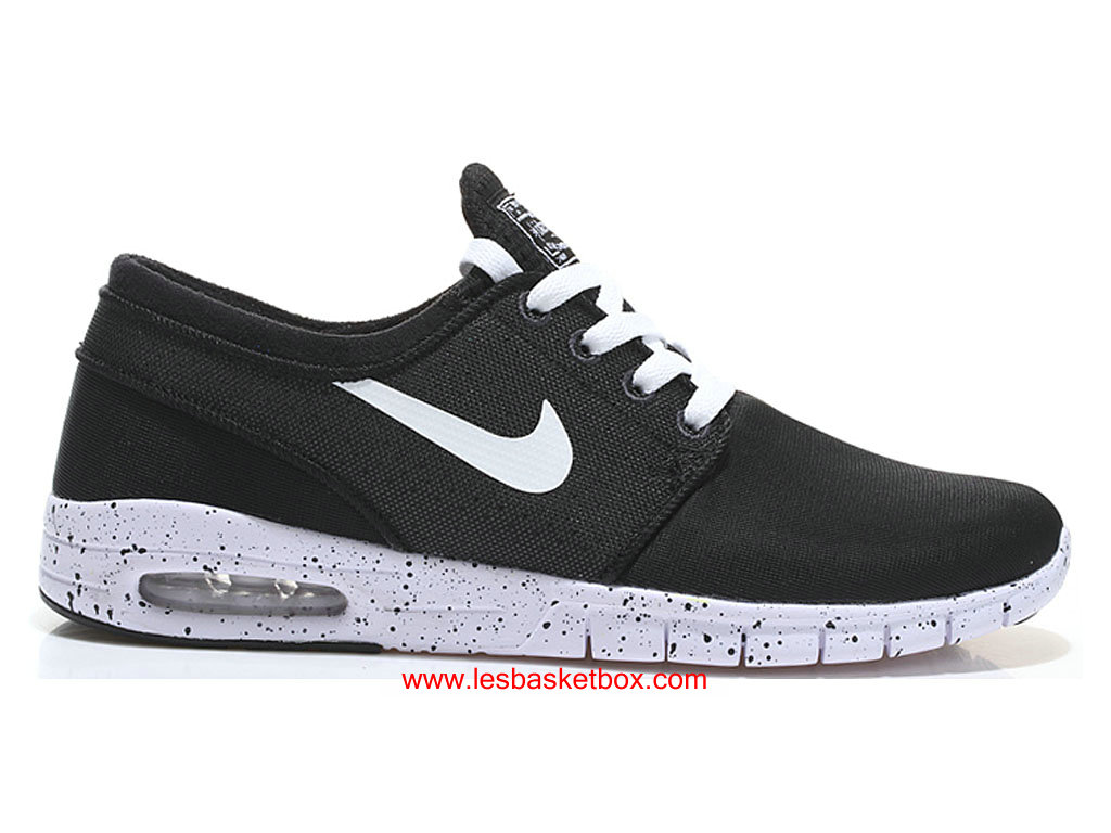 outlet store 7e4e8 597cb Nike SB Stefan Janoski Max Trainers Blanc Noire Chaussures Pour Homme ...