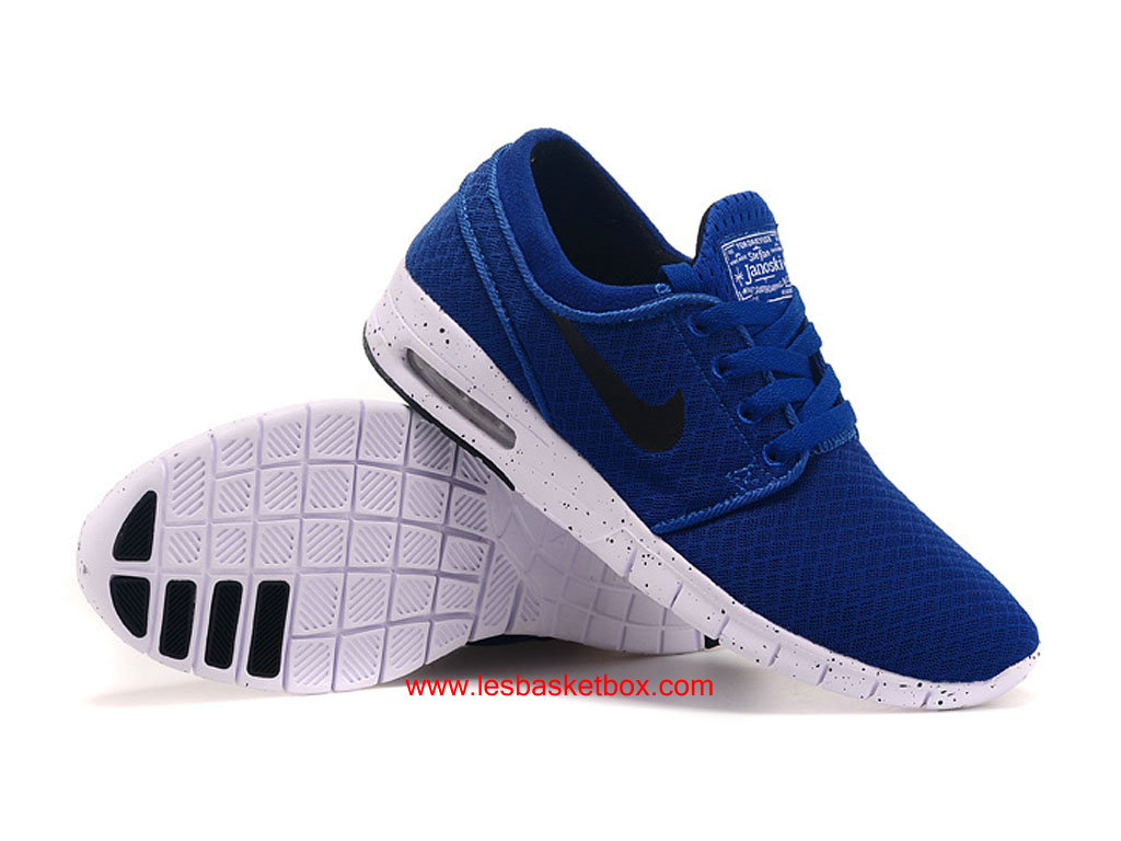 le nouveau modele nike sb stefan janoski max trainers bleu noir blanc chaussures pour homme. Black Bedroom Furniture Sets. Home Design Ideas