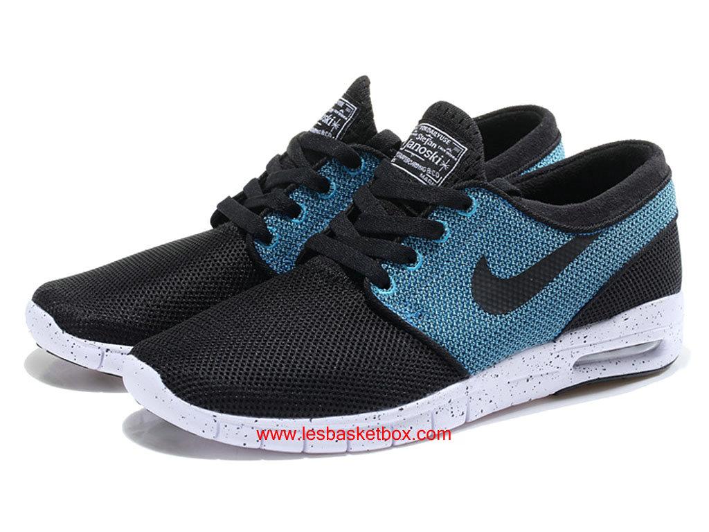 le nouveau modele offiiel nike sb stefan janoski max trainers bleu noir blanche chaussures pour. Black Bedroom Furniture Sets. Home Design Ideas