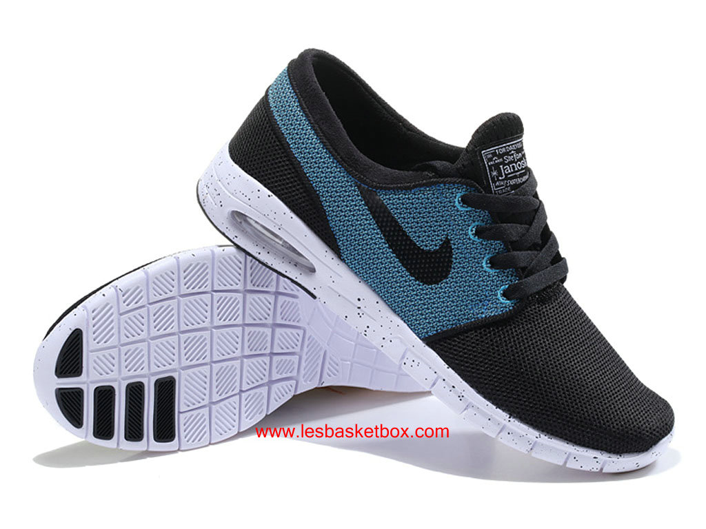 promo code ea68b 30bef ... switzerland nike sb stefan janoski max trainers bleu noir blanche chaussures  pour homme 4aeb8 1f5d8