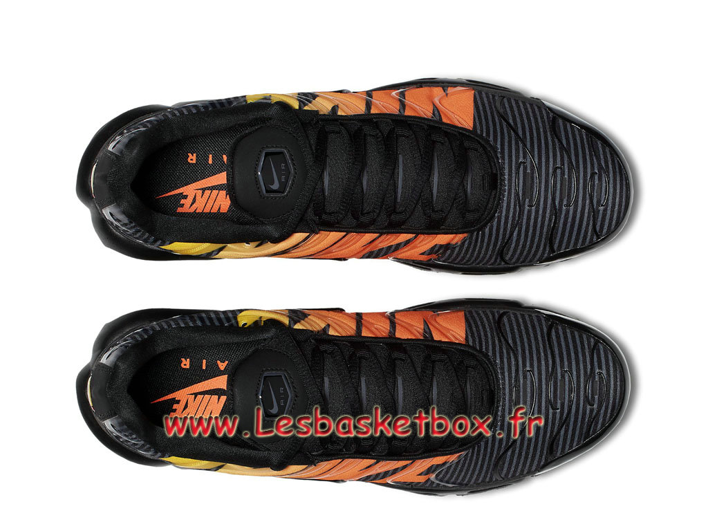 76fbb07b95 ... Nike Tn Air Max Plus Se Striped Black Orange AT0040_002 Chaussures  Tuned 1 Pour Homme ...