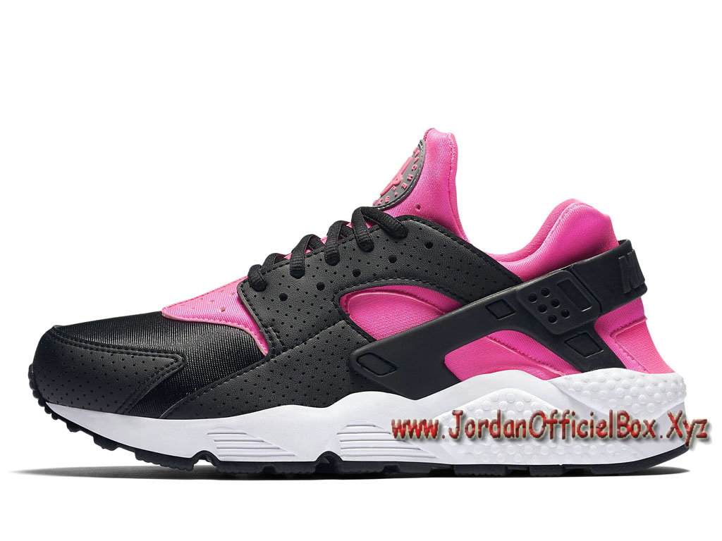 Nike WMNS Air Huarache Run Black/Pink 634835-604 Women´s/Kid´s Officiel Urh Rose