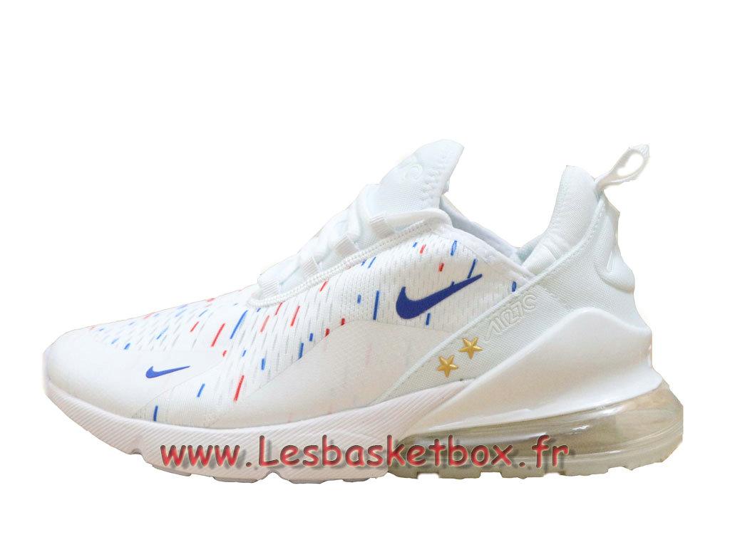 Nike Air Max 270 France 2018 World Cap 2 Etoiles Blanc Bleu Chaussures Officiel prix Pour