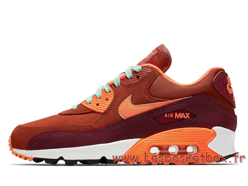 Nike Wmns Air Max 90 Leather Team Red 768887_600 Femme/Enfant Nike 2017 Chaussures Rouge