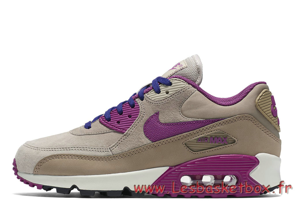 official photos 35f23 baa26 Nike Wmns Air Max 90 Lth Marron 768887-200 Femme Enfant Nike Pas cher ...