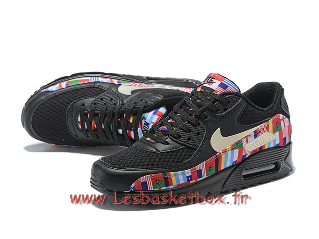 plus de photos 0fcdc 54d9a Nike Wmns Air Max 90 NIC QS Noires Multi AO5119_101F Chaussures sportwear  prix Pour Femme/enfant Noires - 1808221646 - Officiel Nike Basket Pour  Homme ...