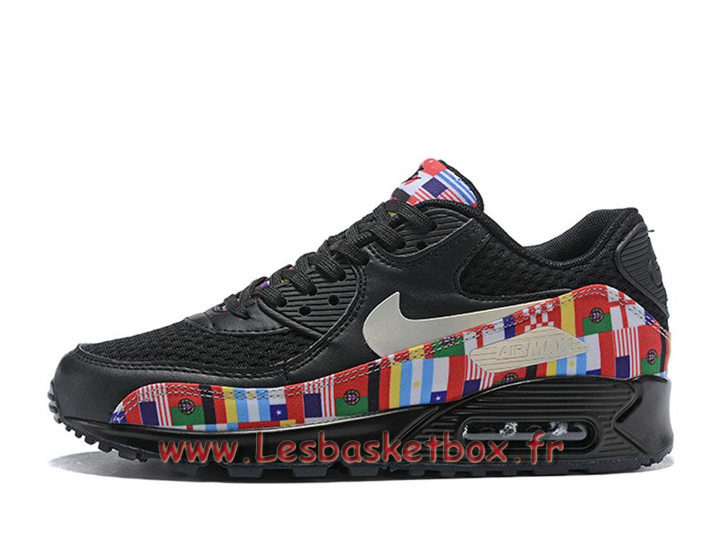 Los Angeles da304 b8d38 Nike Wmns Air Max 90 NIC QS Noires Multi AO5119_101F ...