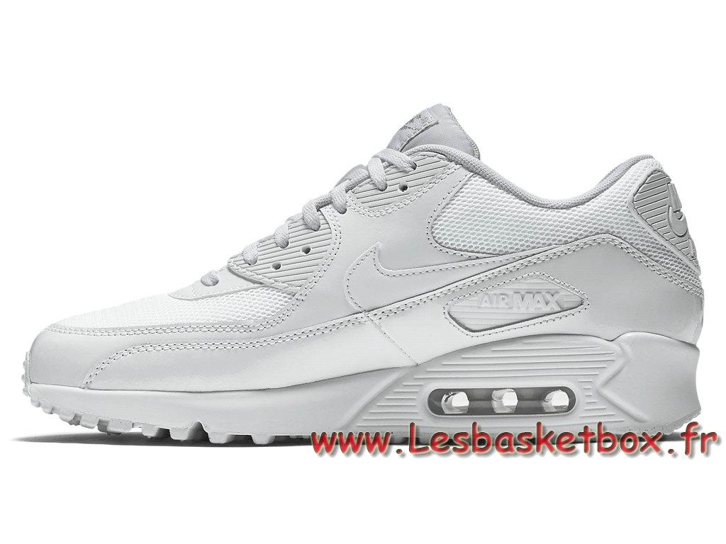 outlet store 09ca9 9892d ... Nike Wmns Air Max 90 Premium Blanc 443817 100 Chausport Officiel Pas  cher Pour Femme enfant ...