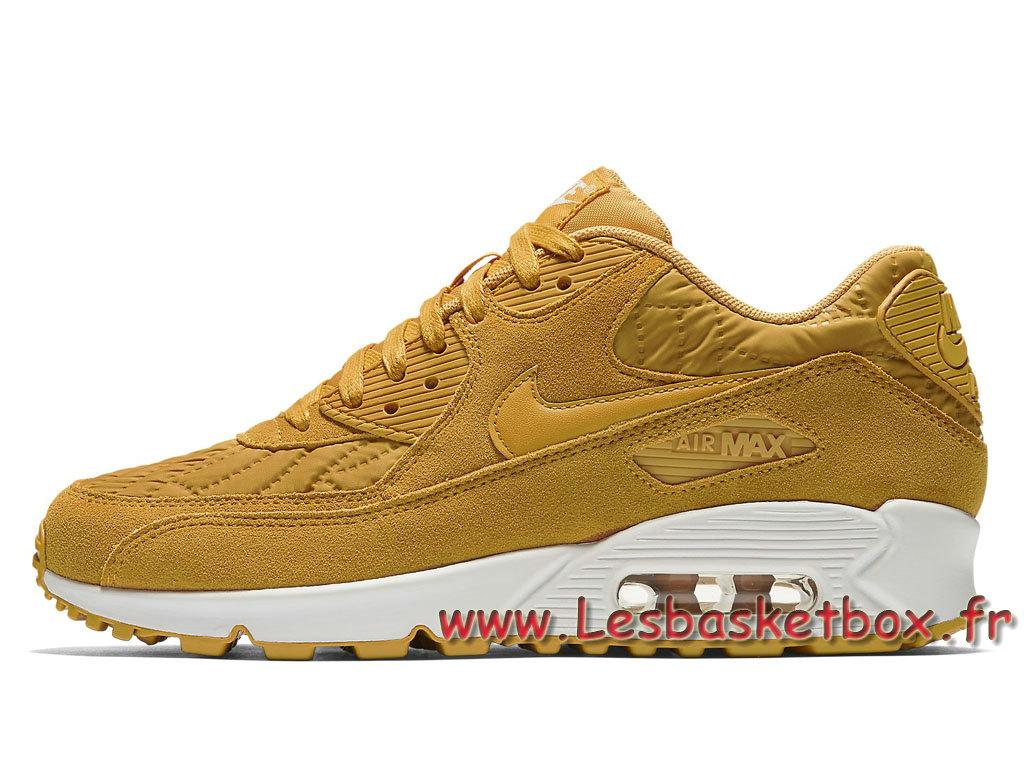 super popular a4d43 2c786 Nike WMNS Air Max 90 Premium Gold Leaf 443817 701 Femme Enfant Nike Prix  Chausport Jaune ...