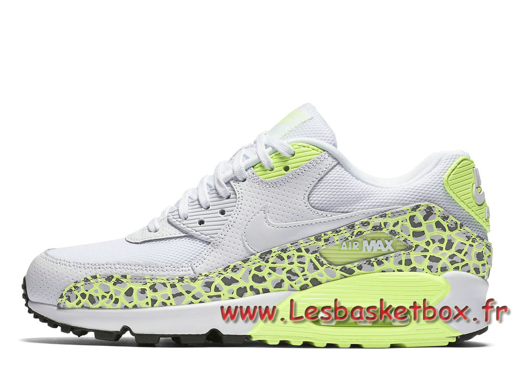 Nike WMNS Air Max 90 Premium Lime Green Animal 443817_103 Chausport Officiel Nike Pour Femme/ ...