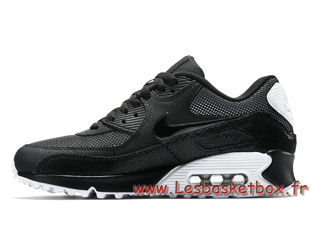 Nike Air Max 90 Premium Black Metallic Silver | WAVE®