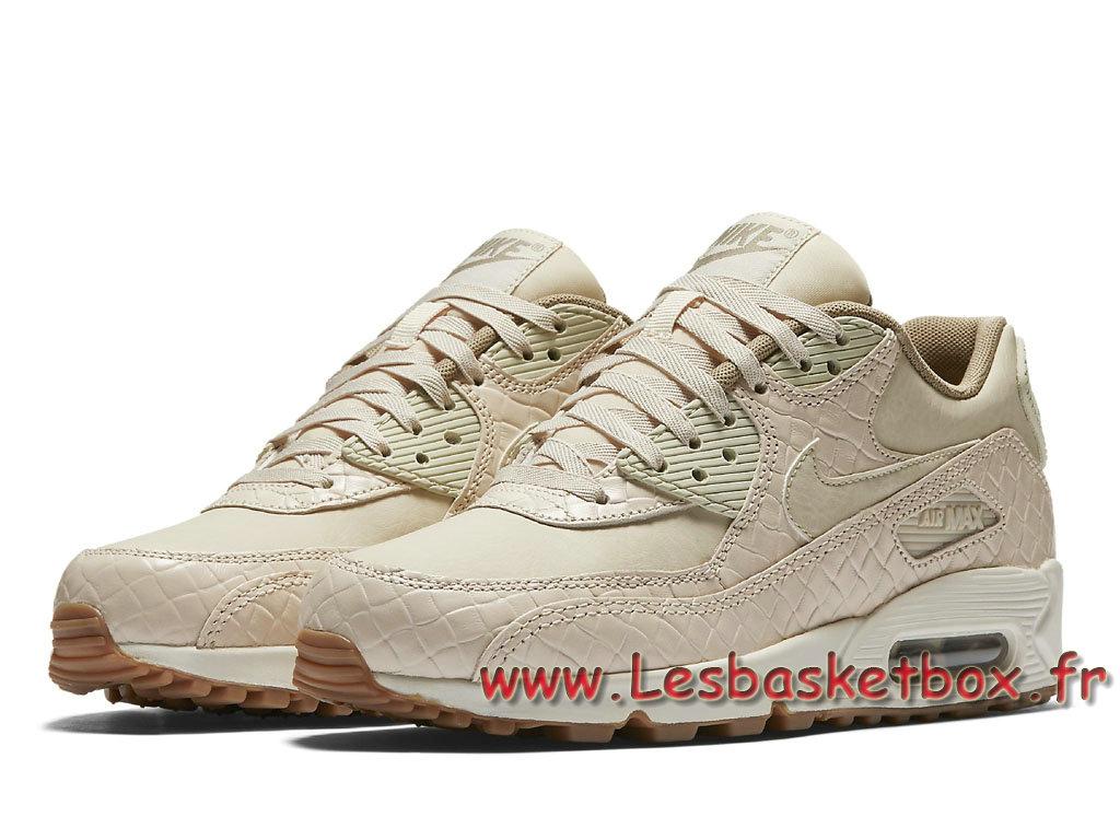 low priced 56400 c6d8d ... Nike WMNS Air Max 90 Premium Sail Khaki 443817_105 Chausport NIke Prix Pour  Femme/enfant ...
