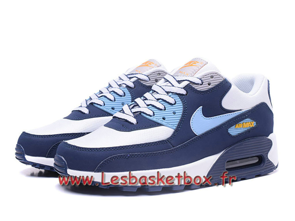 buy popular 5e3e6 48680 ... Nike Wmns Air Max 90 PRM Bleu Bleu Chausport Nike pas cher Pour Femme enfant  ...