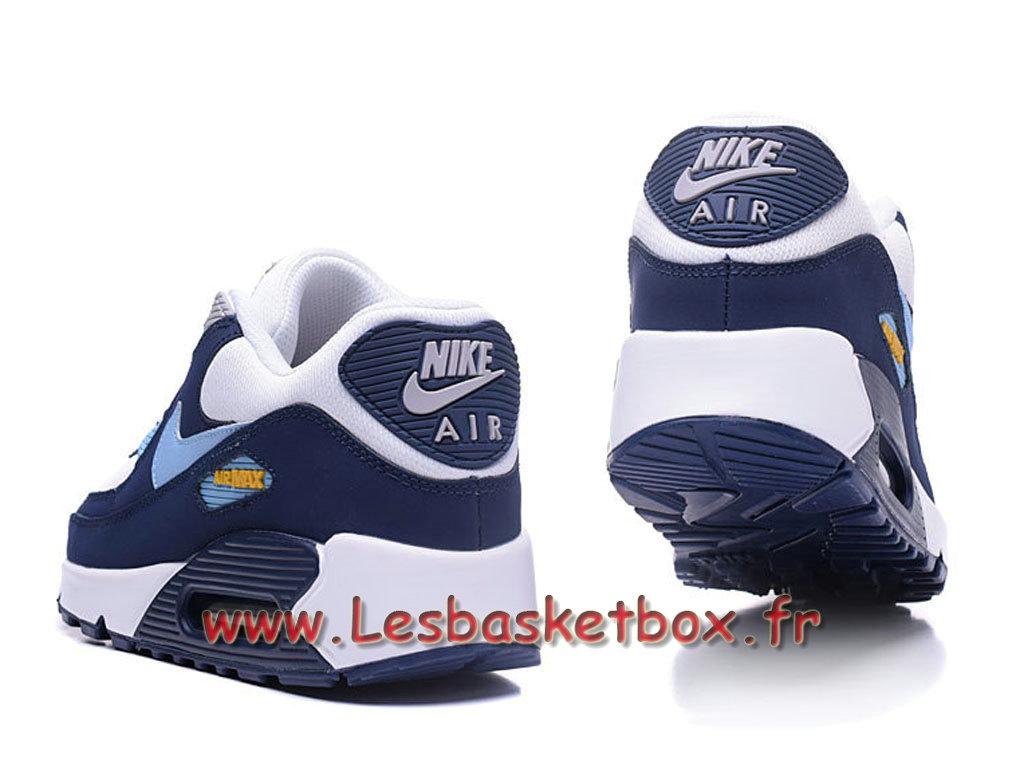 ... Nike Wmns Air Max 90 PRM Bleu Bleu Chausport Nike pas cher Pour Femme/enfant