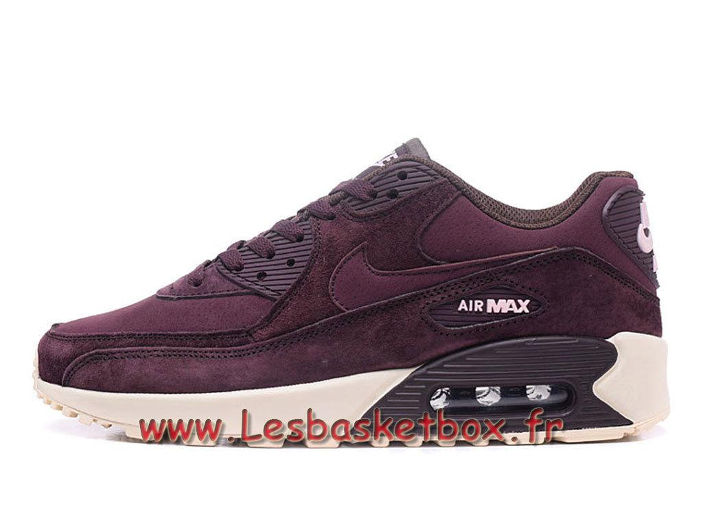 finest selection 55c38 534e1 Nike Wmns Air Max 90 PRM Deep Rouge Chausport Nike Prix Pour Femme enfant