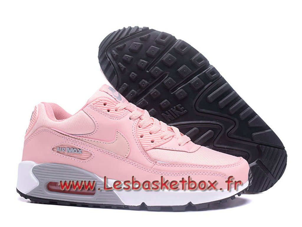 innovative design 534c8 5e4d3 ... Nike Wmns Air Max 90 PRM Rose Chausport Officiel Pas cher Pour Femme  enfant ...