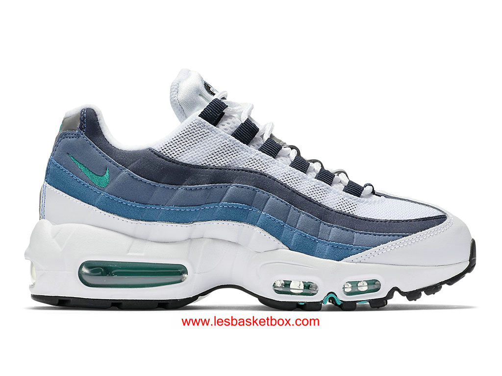 Nike Wmns Air Max 95 OG White Slate Blue 307960-100 Chaussures NIke Prix Pour ...