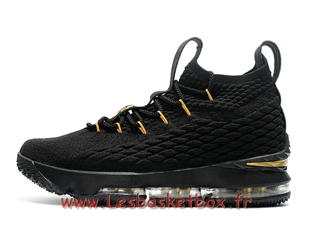 9b92ad0b861c1 Nike Wmns LeBron 15 noires Gold F897648 ID76 Chaussures Nike Basket Pour  Enfant Femme ...