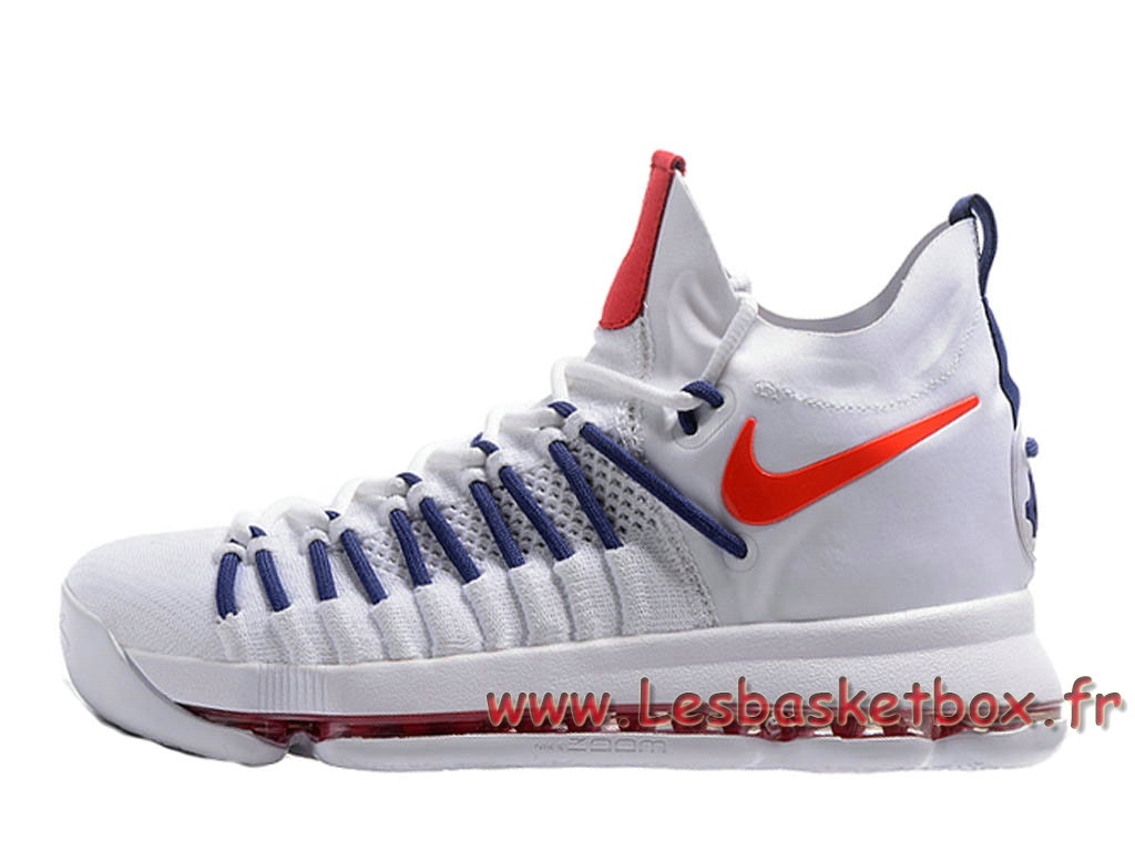 san francisco c74ac 1f215 Nike Zoom KD 9 Elite White Red 909139-ID1 Shoes Nike Prix For men ...