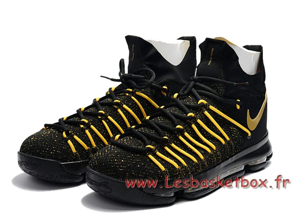 promo code 4e502 e69ed ... Nike Zoom KD 9 Elite noires Vert Chaussures Nike Kd Pas cher Pour Homme  Or ...