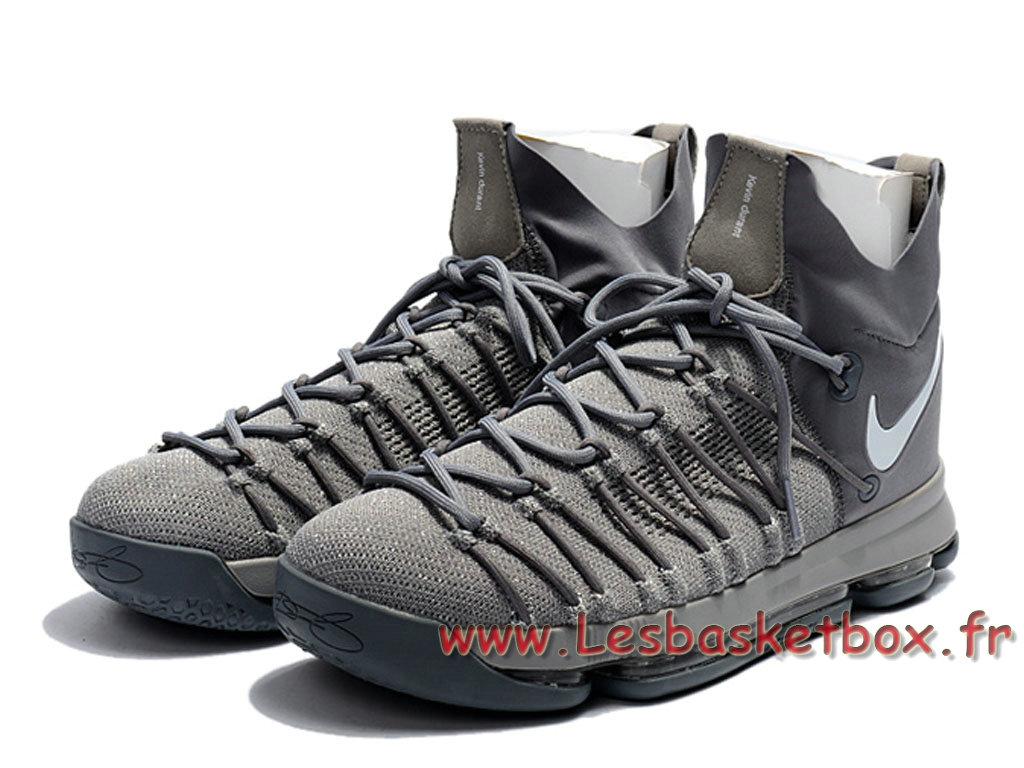 newest 9c55b d68b9 ... Nike Zoom KD 9 Elite Wolf Grey Chaussures Officiel Prix Pas cher Pour  Homme Grey ...
