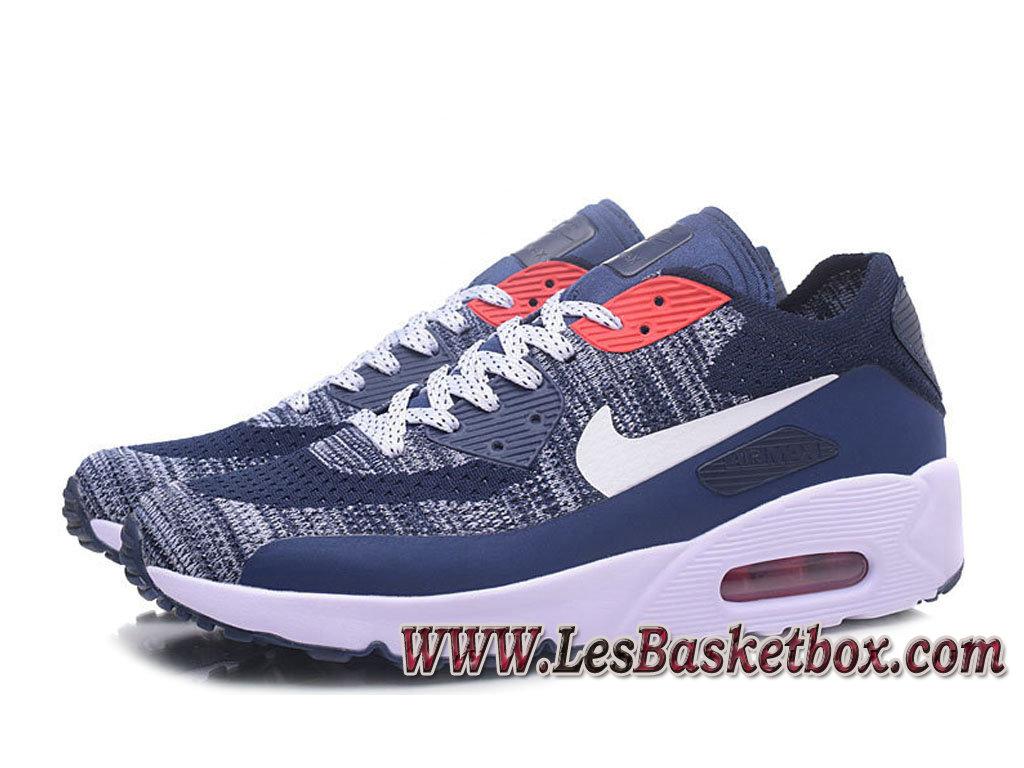 NikeLab Air Max 90 Flyknit BlancBleu 876320 ID8 Chaussures Nike officiel 2017 Homme 1702270658 Officiel Nike Basket Pour Homme Et Femme A Vendre
