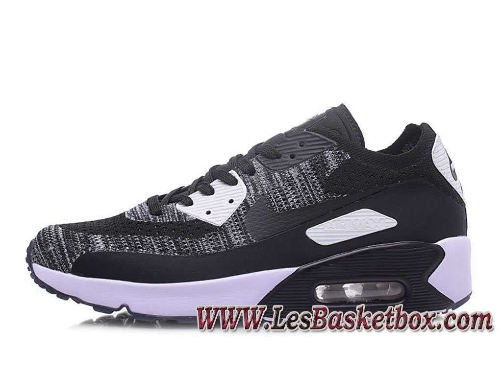 NikeLab Air Max 90 Flyknit Grey/Noir 876320-011 Chaussures Nike Pas cher Homme