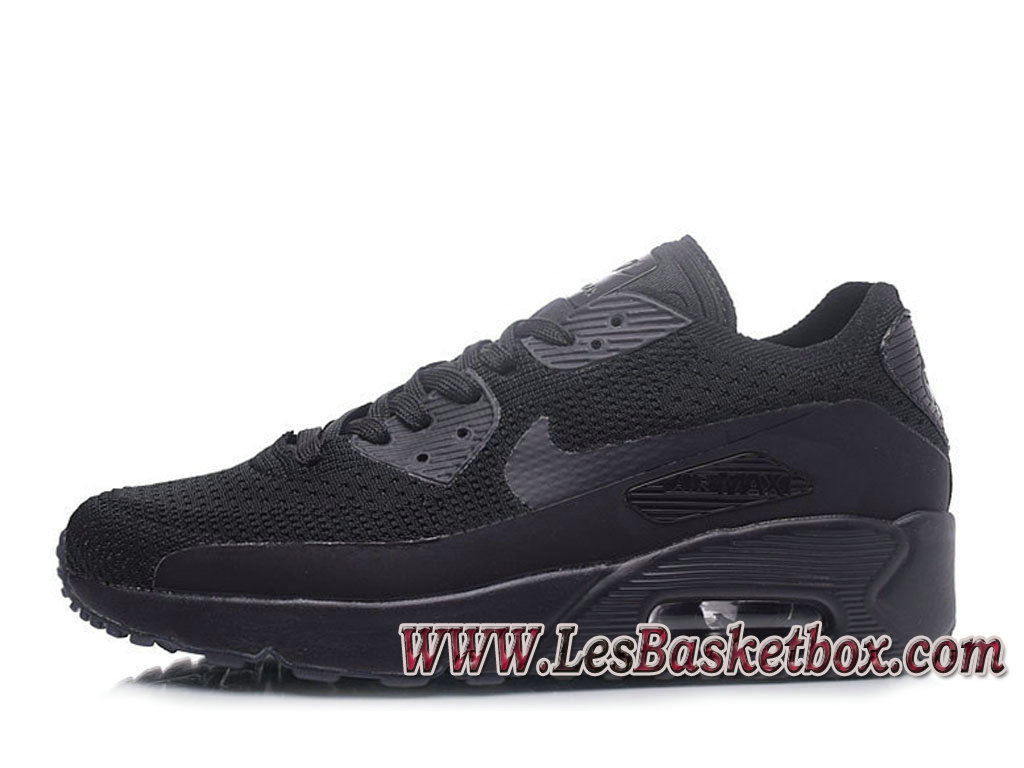 NikeLab Air Max 90 Flyknit Noir 876320-ID2 Chaussures Nike Pas cher Homme