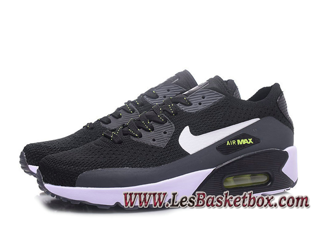 buy online 7c448 a9b30 ... NikeLab Air Max 90 Flyknit Noir Grey 876320-ID3 Chaussures Nike  officiel 2017 Homme ...