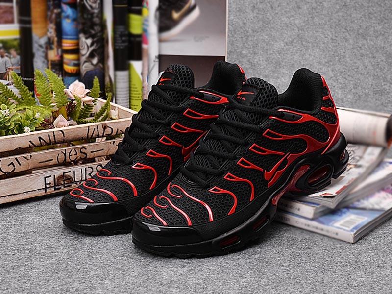 ... Nouveau Nike Air Max Tn/Tn Requin Chaussures Noir Rouge Prix Pas Cher Pour Homme ...