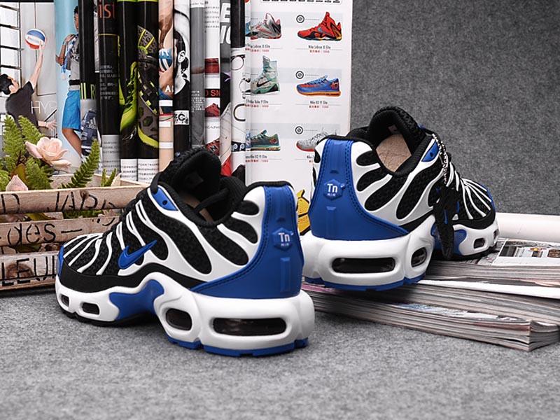 new concept 2facf 7546b ... Nouveau Nike Air Max Tn Tn Requin Chaussures Pour Femme Noir Bleu Pas  Cher
