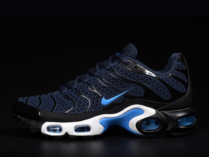 low priced fb385 b0017 ... Nouveau Nike Air Max TnTn Requin Chaussures Pour Homme Bleu Foncé ...