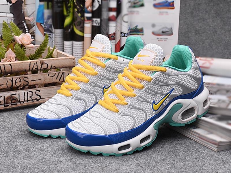 sports shoes 16bb0 7c417 ... Nouveau Nike Air Max Tn Tn Requin Chaussures Pour Homme Wolf Gris Orange  ...