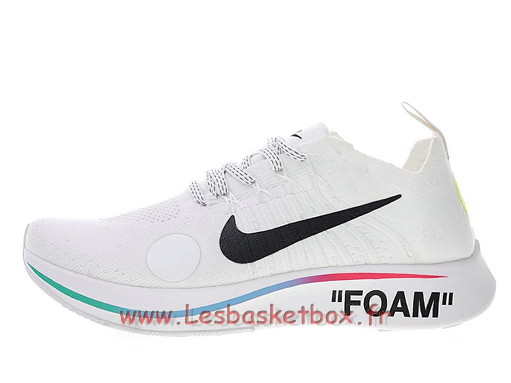 Off-White Nike Wmns Zoom Fly Mercurial Flyknit Blanc AO2115_100F Chaussures Pour Femme/enfant