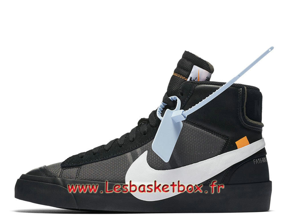 Off-White x Nike Blazer Mid Black AA3832_001 Chaussures Officiel pas Cher Pour Homme