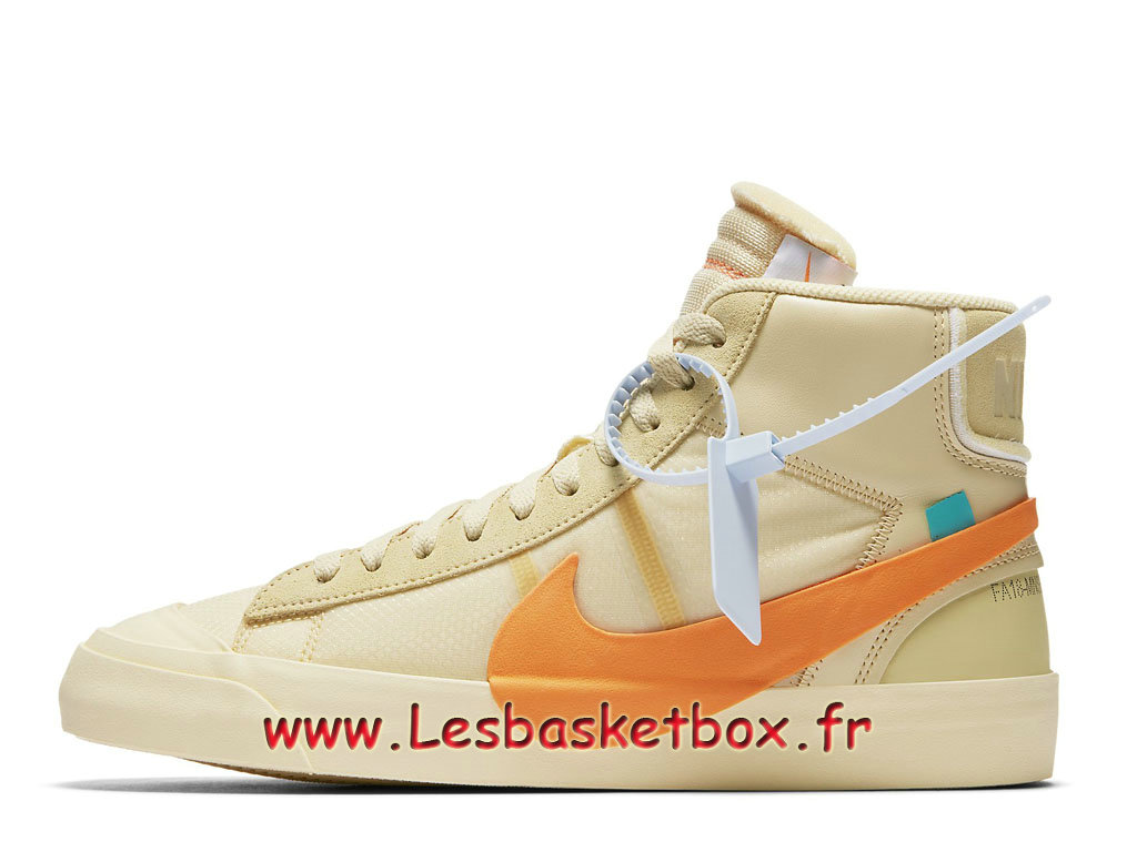 Off-White x Nike Blazer Mid Vanilla AA3832_700 Chaussures Nike SportWear Pas cher Pour Homme