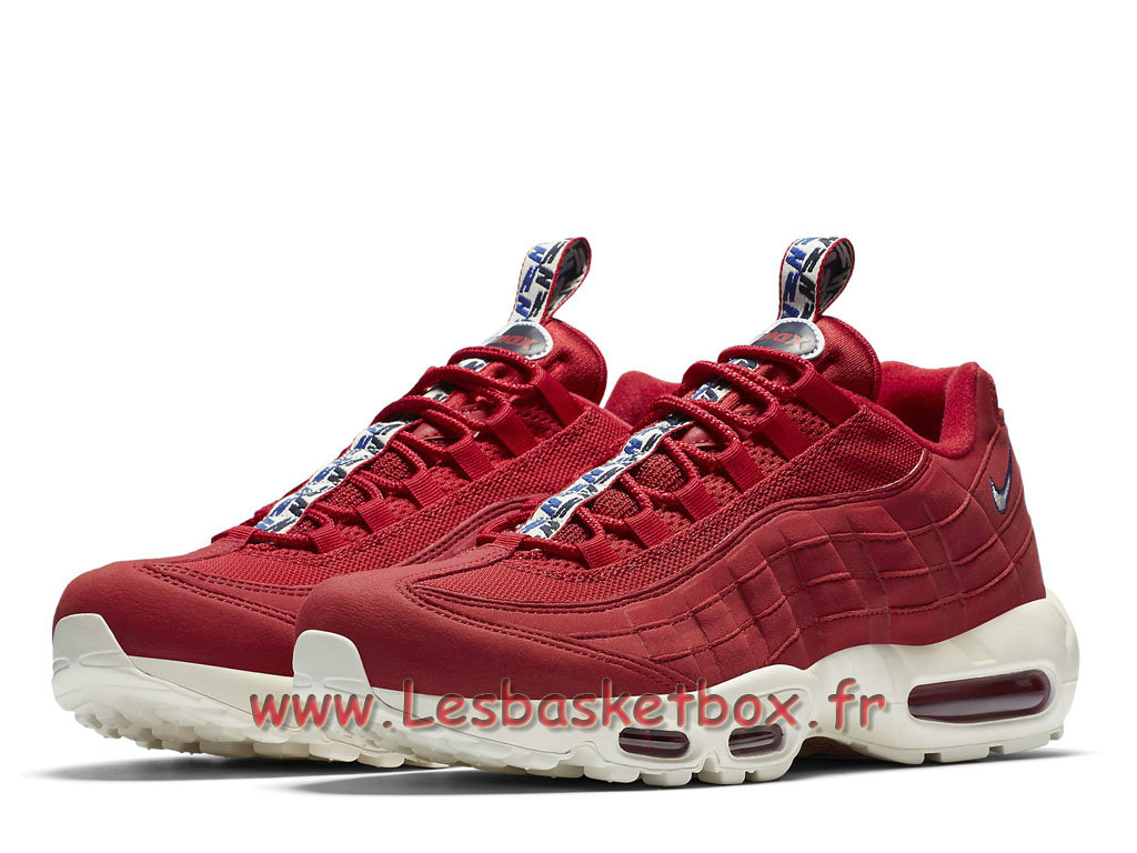 83dd37d977bfa ... Run Nike Air Max 95 TT Gym Red AJ1844 600 Chaussures Nike Sportwear  Pour Homme Rouge ...