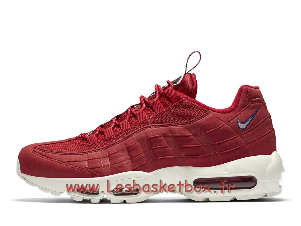 8e974da9caf53 Run Nike Air Max 95 TT Gym Red AJ1844 600 Chaussures Nike Sportwear Pour Homme  Rouge ...