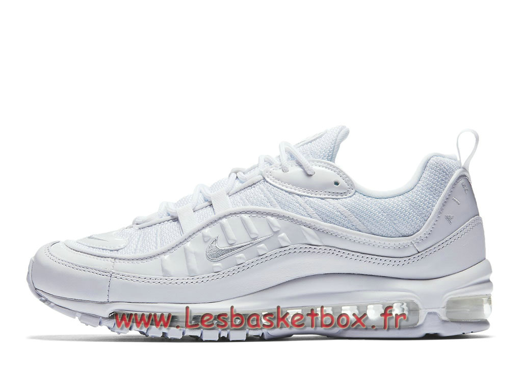 wholesale dealer b9ece e1104 Running Nike Air Max 98 Pure Platinum 640744106 Chaussures Nike 2018 Pour  Homme Blanc ...