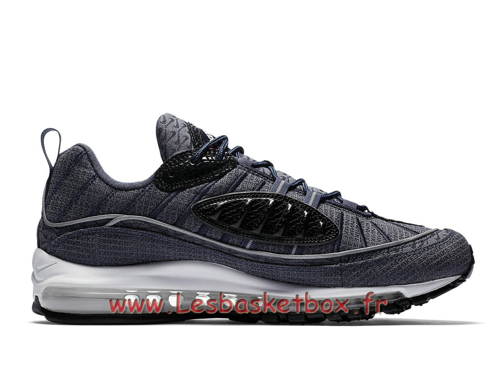 ... Running Nike Air Max 98 QS Thunder Blue 924462_400 Chaussures NIke Pas  cher Pour Homme Gris ...