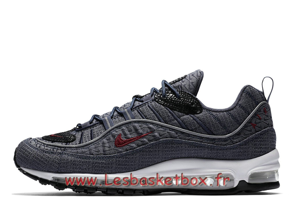 Running Nike Air Max 98 QS Thunder Blue 924462_400 Chaussures NIke Pas cher Pour Homme Gris