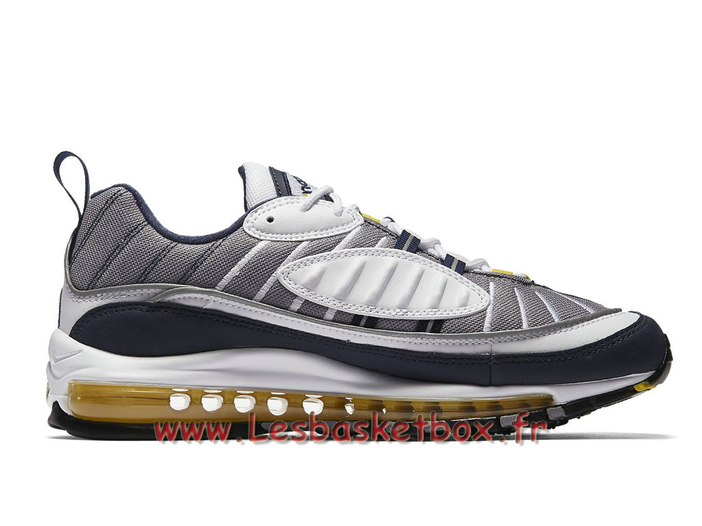 outlet store d7ed1 36450 ... Running Nike Air Max 98 Tour Yellow 640744105 Chaussures Nike 2018  Pour Homme Gris ...
