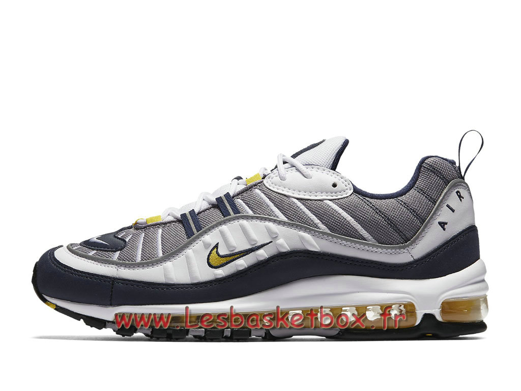 Running Nike Air Max 98 Tour Yellow 640744_105 Chaussures Nike 2018 Pour Homme Gris