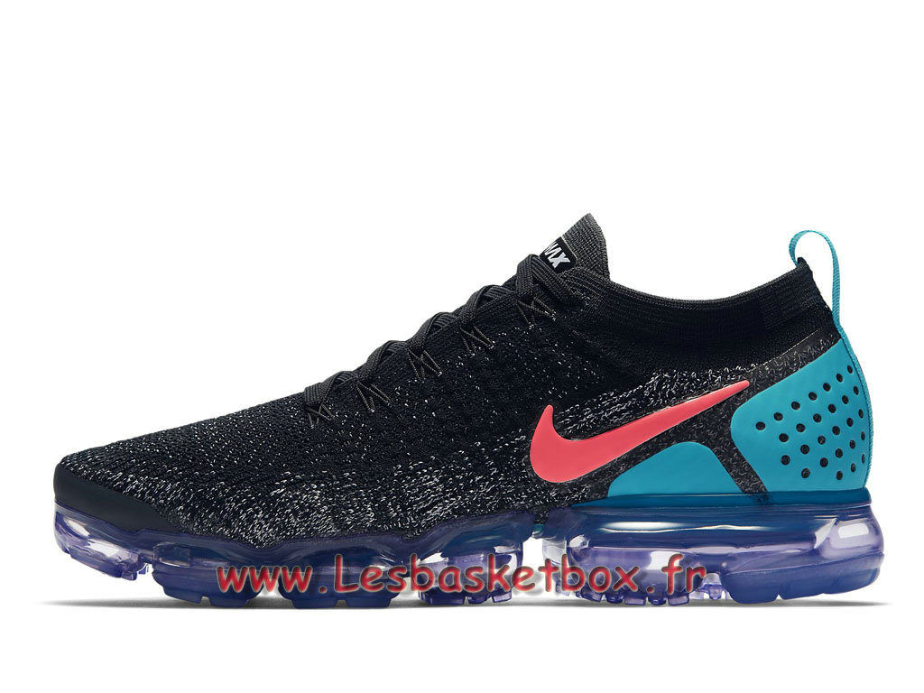 9c493fdad6 Running Nike Air VaporMax Flyknit 2.0 Black Hot Punch 942842_003 Chaussures  NIke Pas cher Pour Homme ...