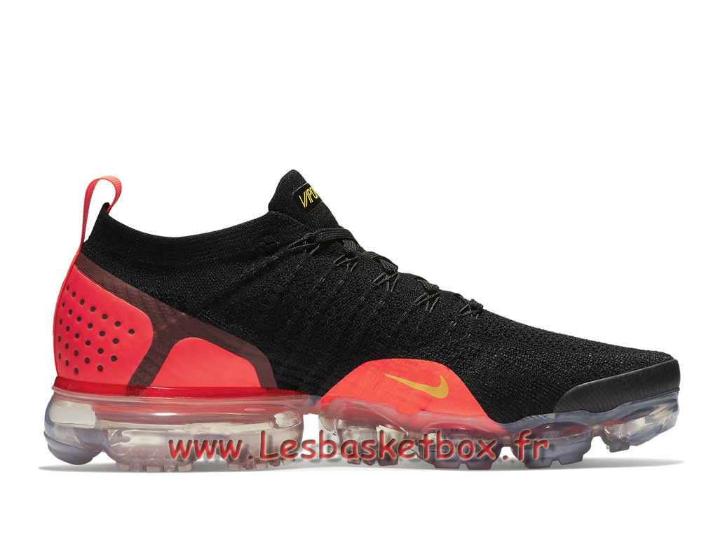 best deals on 7d6c3 38a63 ... Running Nike Air VaporMax Flyknit 2.0 Black Red Yellow 942842 005  Chaussures Officiel NIke Pour Homme noir ...