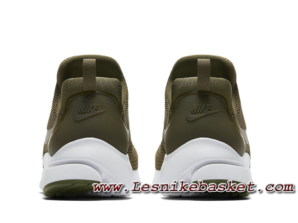 buy popular 637b3 df09b ... Running Nike Presto Fly Medium Olive White 908019 201 Homme Nike Pas  Chere Blanc