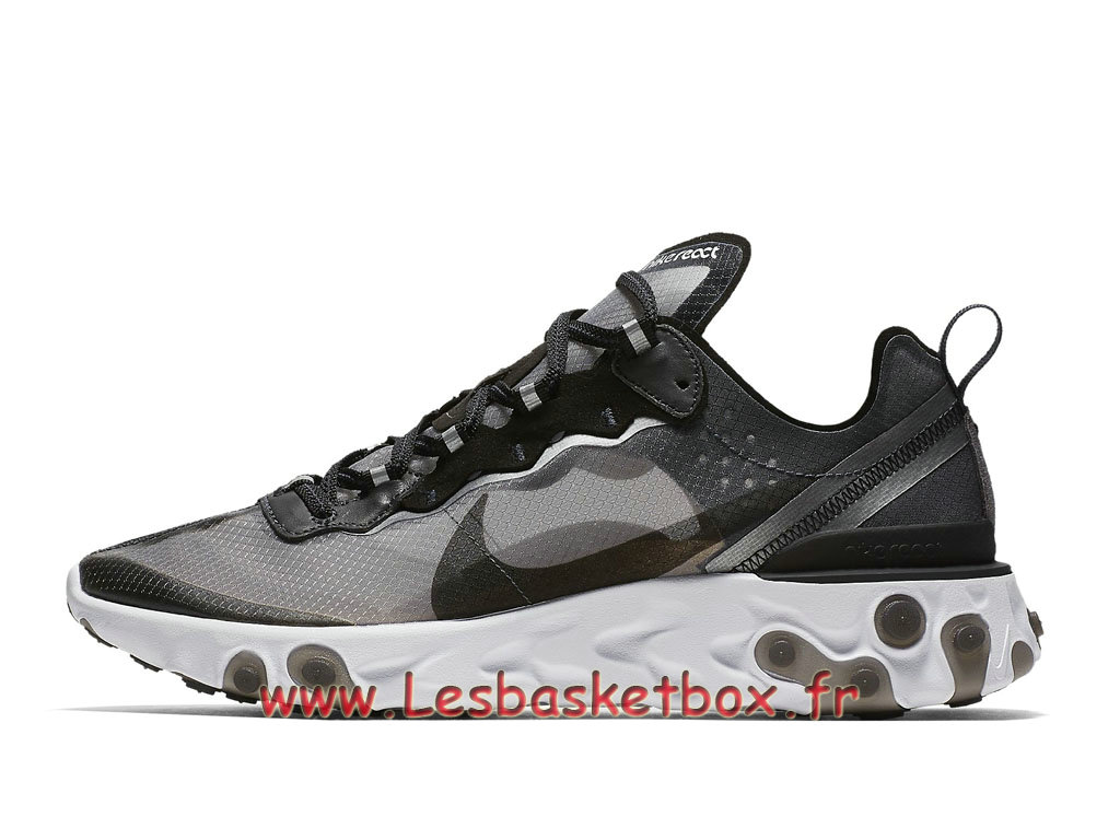 Running Nike React Element 87 Anthracite Black AQ1090_001 Chaussure Officie Pirx pour Homme