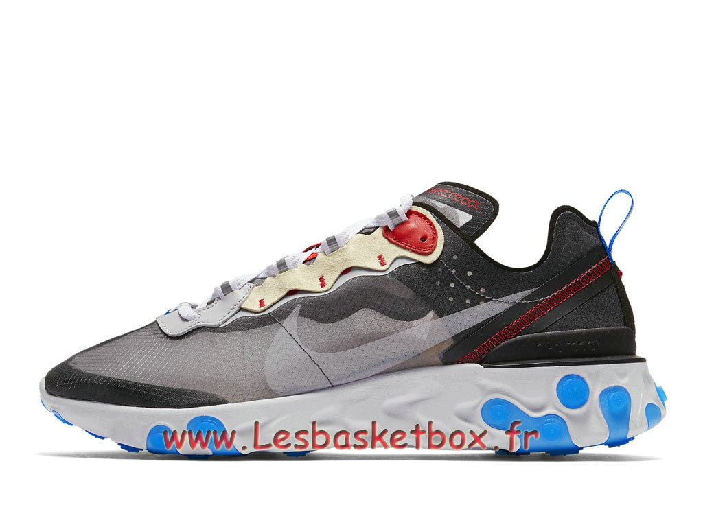 Running Nike React Element 87 Dark Grey Photo Blue AQ1090_003 Chaussure Officiel Pas cher pour Homme