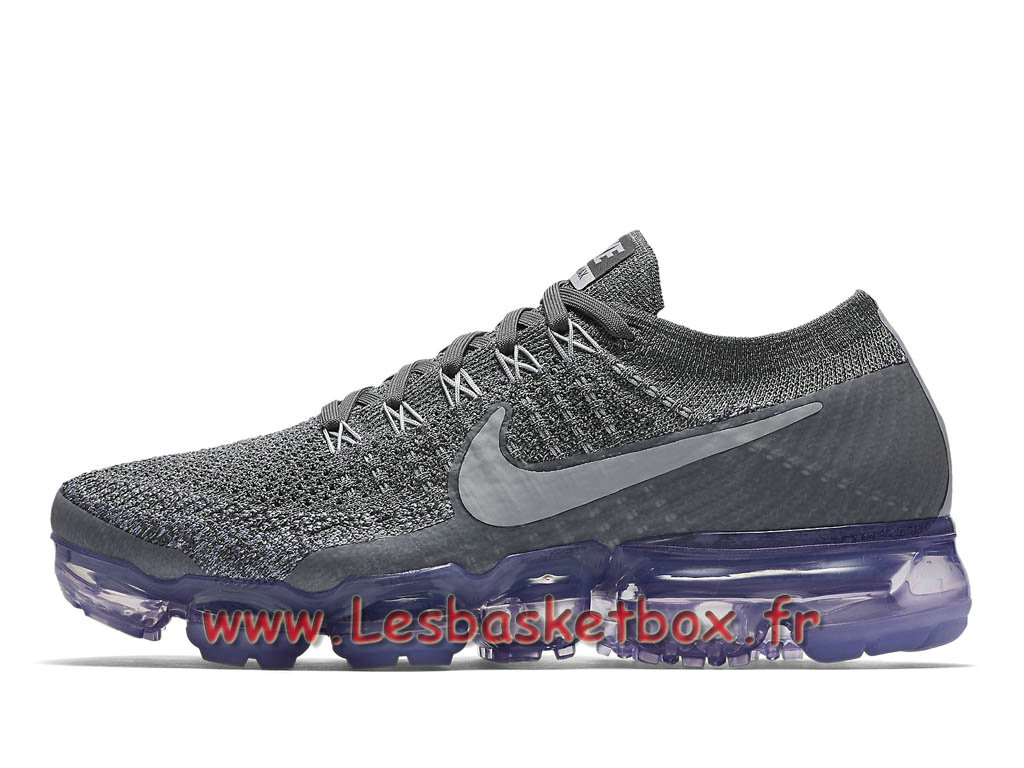 Running Nike WMNS Air Vapormax Flyknit Grey Purple 849557_015 Chaussures Nike pas cher Pour Femme/enfant